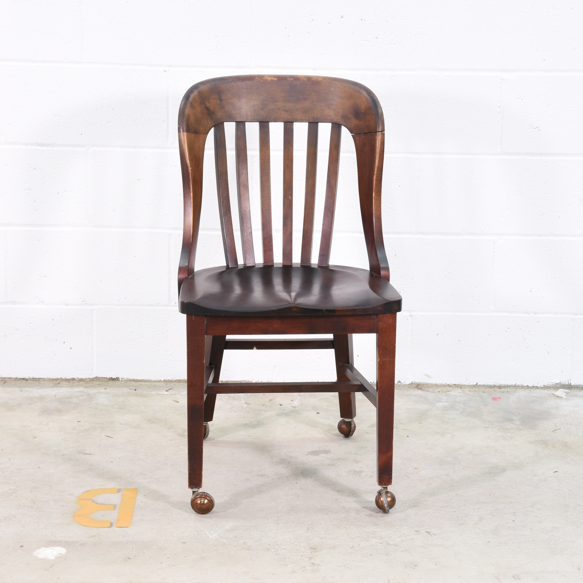 Wooden Desk Chair W/ Wheels Loveseat Vintage Furniture San Diego . Full resolution  image, nominally Width 2000 Height 2000 pixels, image with #976C34.