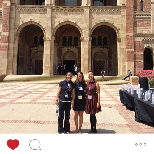 Kimberly and Kiara, two of the girls I really bonded with throughout the institute and plan on keeping close to my heart, pose with me in front of Royce Hall.