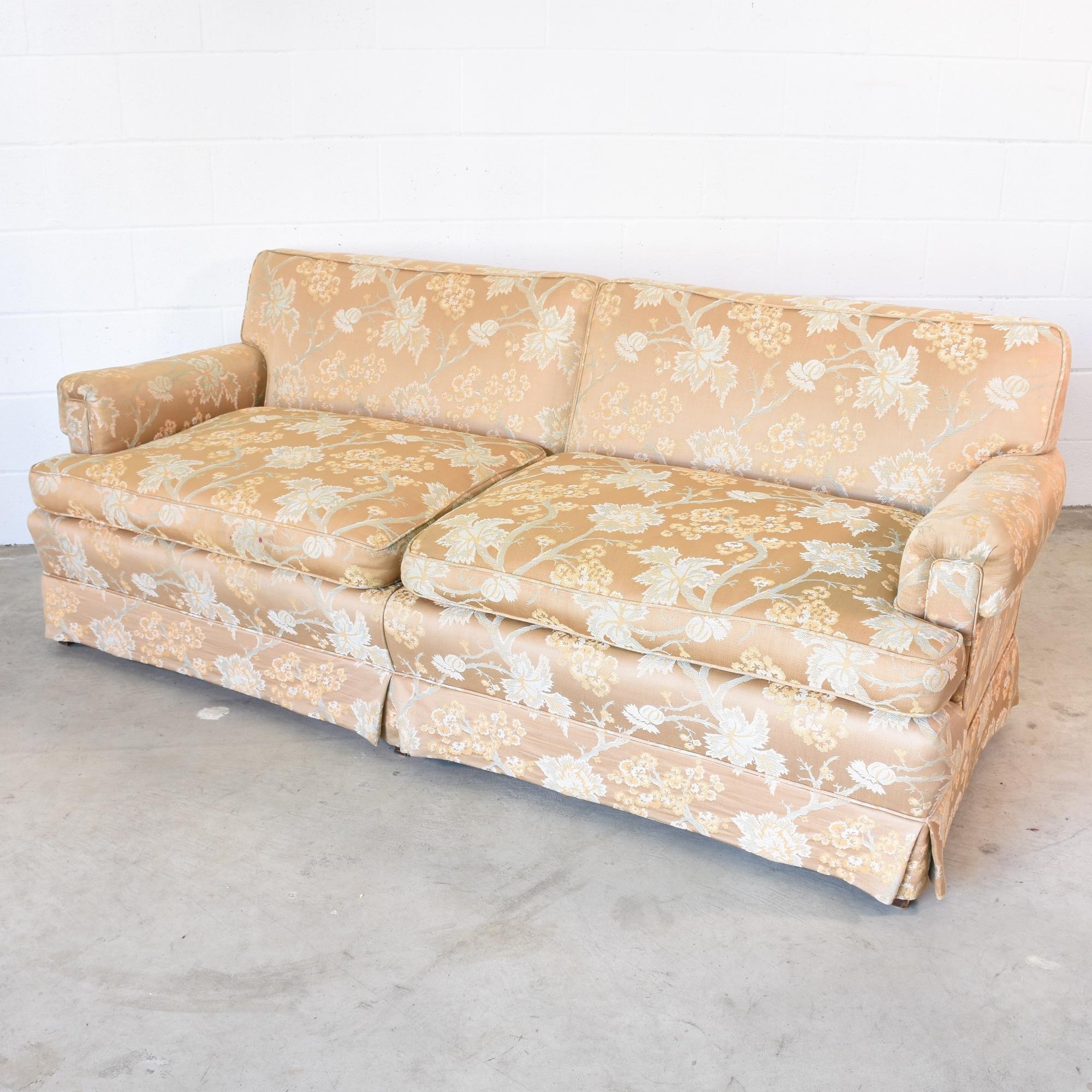 Vintage Sofa In Beige Floral Upholstery Loveseat Vintage Furniture San Diego Los Angeles
