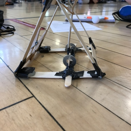 Me and my partner's catapult for the competition. It managed to launch a ping pong ball around 14 feet and not fall to pieces afterwards. Overall, I'd say it was a success.