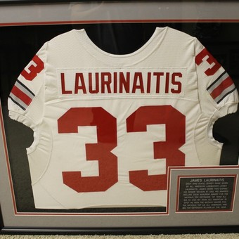 0315836ace0 JAMES LAURINAITIS 2007 GAME WORN OHIO STATE FOOTBALL JERSEY