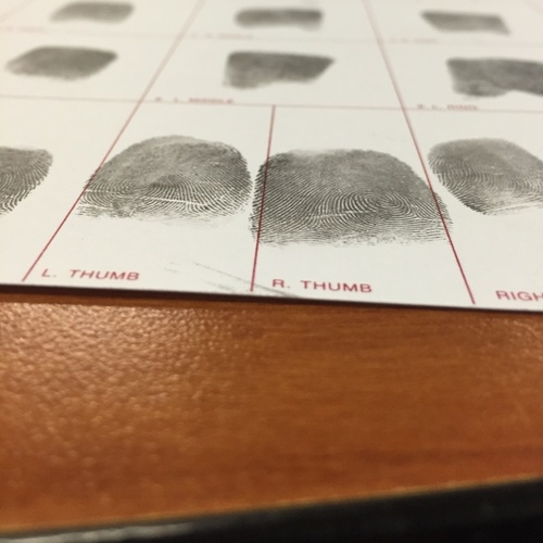 Finger prints.