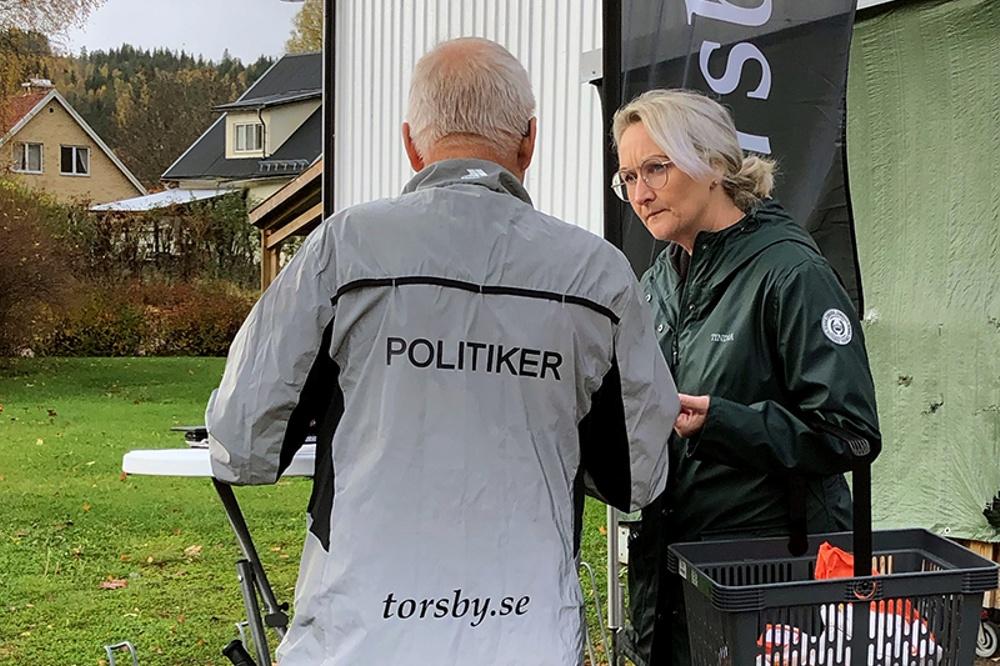 Visionsarbete. Medborgardialog i Stöllet, hösten 2020. Foto Sara Johansson, Torsby kommun.