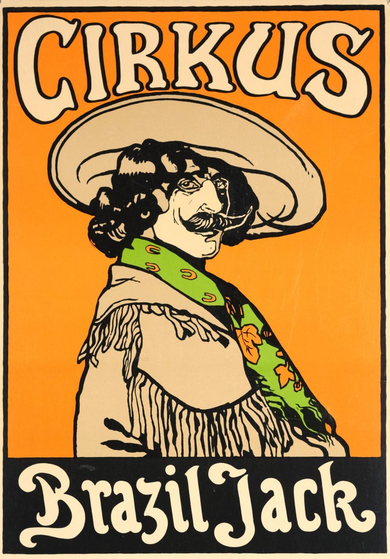 Cirkusaffisch, reproduktion från Cirkusakademiens samlingar.