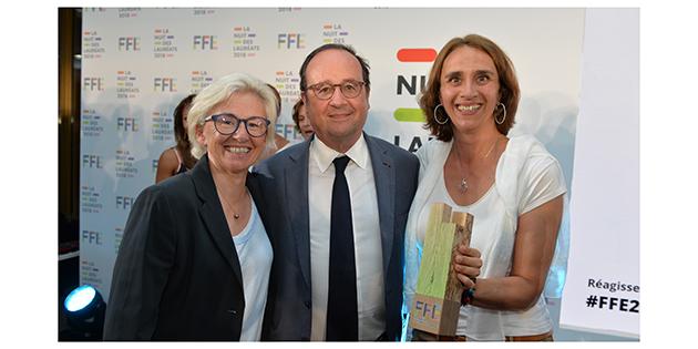Photo: Odile Petit, François Hollande et Carole Ercole - Audition solidarité