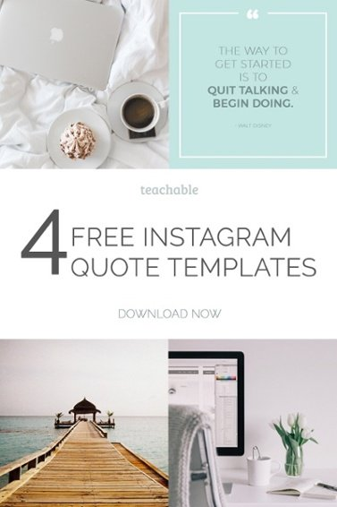 We want to make growing your Instagram account easy! Our designer, Allison Haag designed 4 editable Photoshop, Keynote and PowerPoint templates for Instagram quotes. Download them now!