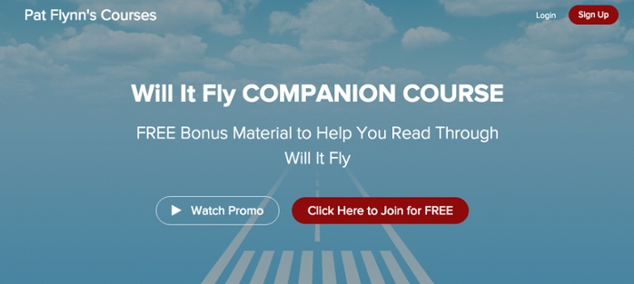 Pat Flynn, Online course, Will It Fly Companion Course