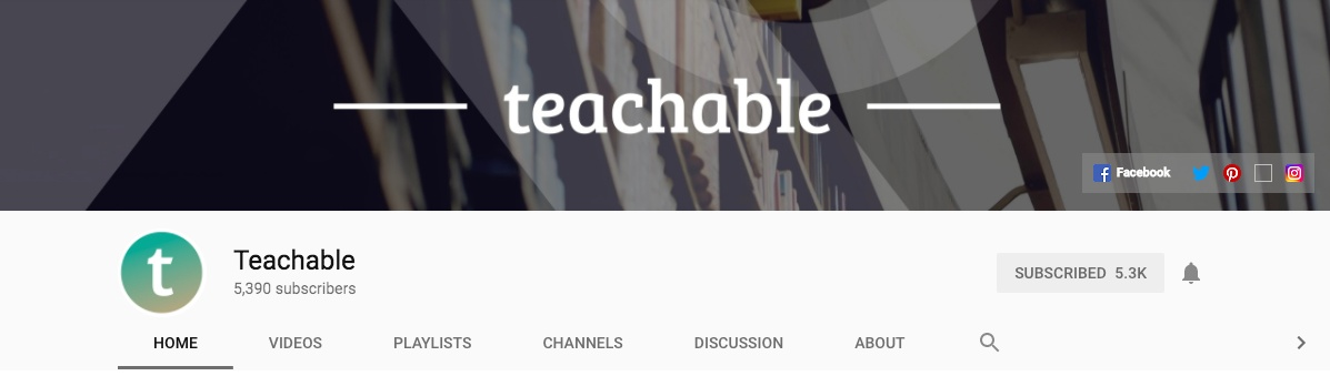 Teachable's YouTube Channel