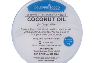 All Natural Coconut Oil Moisturiser for Body and Hair Photo 2