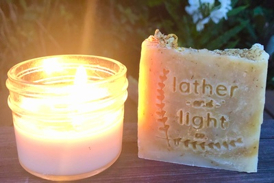 Candle and a soap! Photo 1