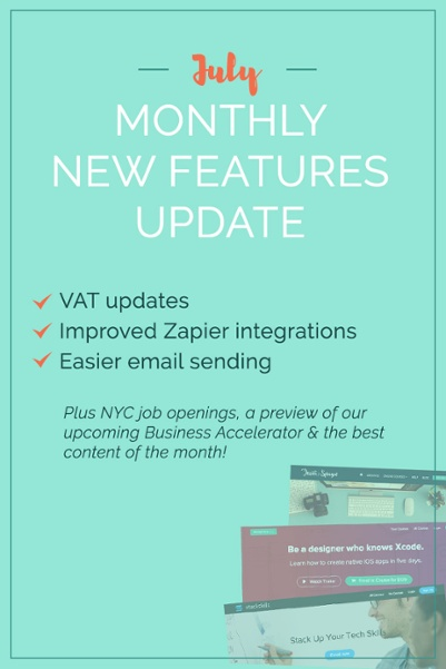 Here is Teachable's June Product Update to help you create and sell a beautiful online course! We're sharing some projects in the works (better Zapier integrations & VAT updates), plus how you can send emails to specific segments of students. Not to mention, we're still hiring for many roles in our NYC office, plus a roundup of all the fabulous content produced this month! Check it out now!