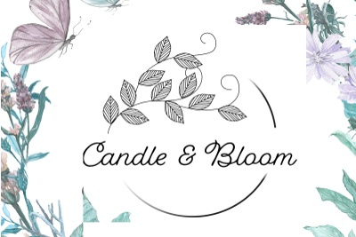 Candle & Bloom Photo 1