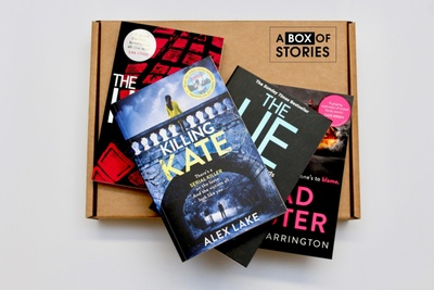 Monthly Fiction Box of 4 Surprise Books - Mystery Book Gift Box For Book Lovers Photo 2