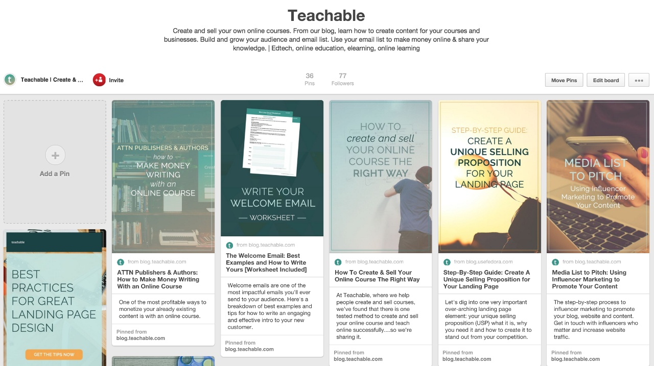 Teachable Pinterest board