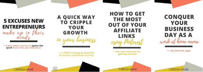 Caressa Lenae is a blogger and online mentor at her self-named website, CaressaLenae.com. She is passionate about business and helping aspiring entrepreneurs find their paths and between coaching and blogging, she also hosts an online mastermind group.