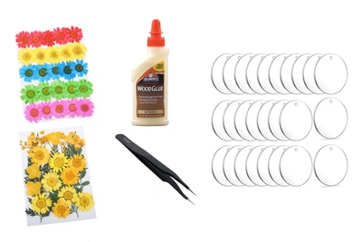 Monthly Pressed Flowers Complete DIY Craft Kit Photo 1