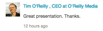 Tim O'Reilly SlideShare comment