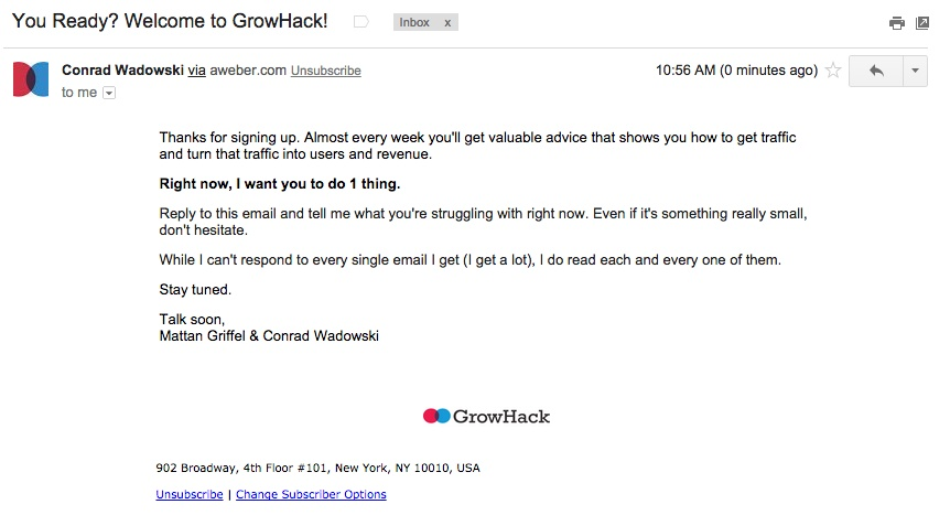 GrowHack Email