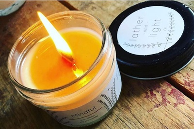 Monthly Soy Wax Candle scented with Essential Oils Photo 1