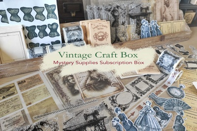 Vintage Craft Box by Cora Crea Crafts Photo 1