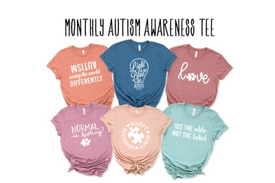 Monthly Autism Awareness T-Shirt Photo 1