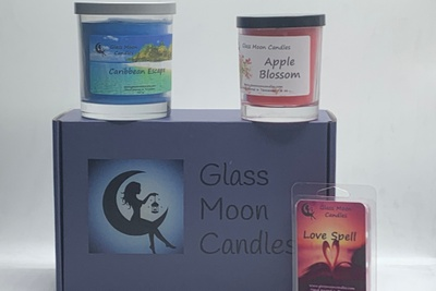 Glass Moon Candles Photo 3