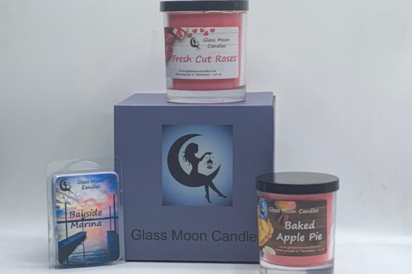 Glass Moon Candles Photo 1