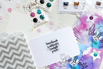 Handmade Watercolor Sample Pack Photo 2