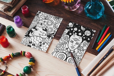 'Create Your Own Doodle Cover' Coloring Book Photo 1