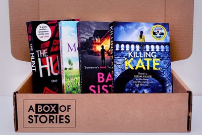 Monthly Fiction Box of 4 Surprise Books - Mystery Book Gift Box For Book Lovers Photo 3
