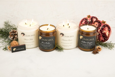 Four jar candles from the Vonroma subscription box.