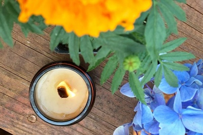 Monthly Soy Wax Candle scented with Essential Oils Photo 2