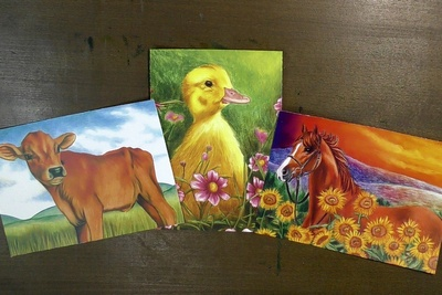 Wildlife Art Print Box - Farm Animals - May 2021 Photo 1