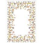 Canvas Blumen - weiß