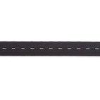Knopfloch-Elastic, gewirktes Band, 25mm, schwarz, 10m