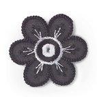 Applikation Blume schwarz/weiß