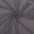 Baumwollstoff Lochstickerei Marion - schwarz