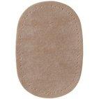 Patches Velourslederimitat, 9 x 13,5cm, beige/braun/rot sort