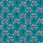 Baumwollstoff Popeline Bäume - grün