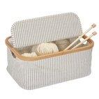 Box Canvas & Bamboo faltbar grau