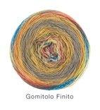 Gomitolo Finito, 558 Ocker/Graulila/Petrol/Türkis/Rosa/Flieder