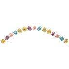 Applikation Blumenranke pastellfarben