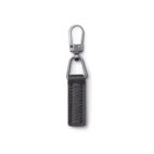 Fashion-Zipper, Lederimitat, schwarz