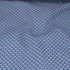 Baumwoll Popeline Kringel - blau