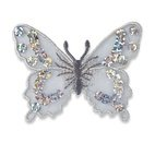 Applikation Schmetterling, silber