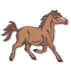 Applikation Pferd, rennend, braun