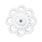 Annäh-Druckknöpfe, 25mm, Blume, weiß