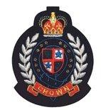 Applikation Wappen CROWN, schwarz/rot/gold