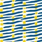 Canvas abstrakte Linien - blau/ gelb/ beige