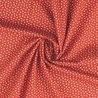 Baumwollstoff Popeline Herzen - rot/ weiß